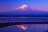 山梨県 夜明けの富士山