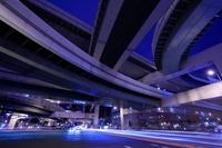 大阪府 阿波座ジャンクションの夜景