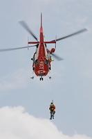 埼玉県 防災訓練中のヘリコプター