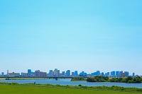 大阪府 淀川と街並み