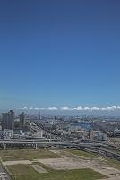 有明の建設用地と東雲、辰巳方面の街並み