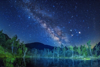 長野県 天の川とまいめの池