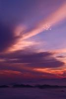 雲たなびく夕日の時間
