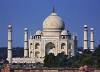 インド アーグラ タージ・マハル 遠望
