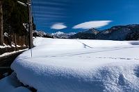 富山県 北アルプス 麓の豪雪