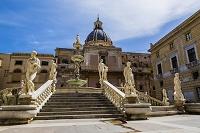 イタリア シチリア島 パレルモ プレトリア広場 噴水