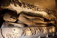アジャンタ石窟 第26窟 涅槃像 世界遺産