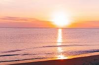 北海道 海に沈む夕日