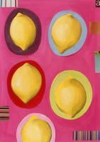 皿に乗ったレモン イラスト