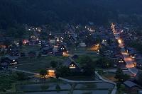 岐阜県 合掌造り集落の夜景 白川郷