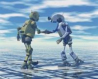 ロボット 握手
