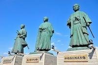 高知県 高知市 JR高知駅前の三志士像