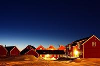 ノルウェー 北欧 ロフォ-テン ホテルの夜