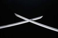 美術刀剣 日本刀 白刃の交差した 日本刀