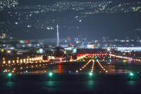 伊丹空港 飛行機 夜景