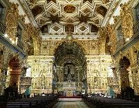 ブラジル サルバドールのサン・フランシスコ教会内部