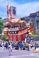 京都府 祇園祭の山鉾巡行
