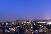 住宅街の夕景