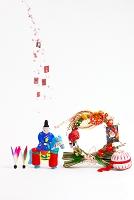 小幡土人形馬乗り天神と正月飾り