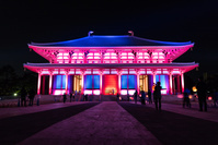 奈良市 興福寺 中金堂 落慶記念ライトアップ