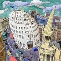 BBC Building, Portland Place, 1998 (w/c on paper)