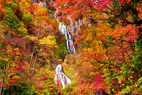 北海道 天人峡 羽衣の滝
