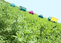 草原のエコカーイメージ