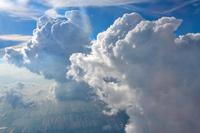 タイ上空の積乱雲