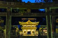 栃木県 東照宮の陽明門のライトアップ