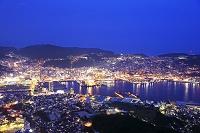 長崎県 稲佐山山頂展望台から長崎市の夜景