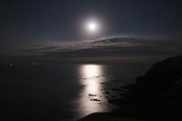 北海道 月明かりの海