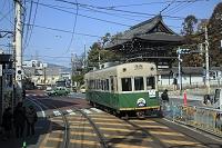 京都市 嵐電車窓より 太秦広隆寺付近