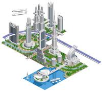 ブロックタウン未来都市