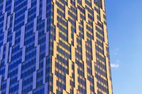 再開発中の渋谷駅 ビル壁面