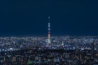 東京スカイツリーの夜景 特別ライティング