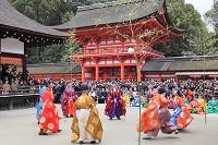 京都府 下鴨神社 蹴鞠初めの神事と楼門