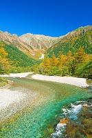 長野県 梓川と穂高岳