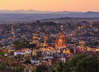 メキシコ サン・ミゲル・デ・アジェンデ 街並み 俯瞰 夕景(...