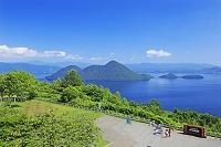 北海道 サイロ展望台と洞爺湖