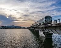 秋田県 男鹿線 夕景